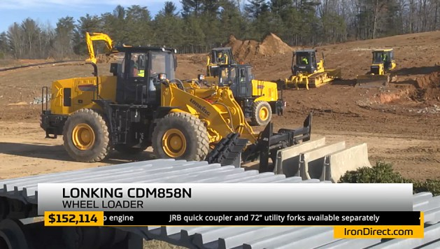 Lonking wheel loaders were featured in the latter portion of the show.